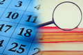 Calendar and online records search