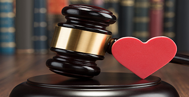 gavel and a heart