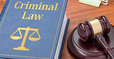 Criminal Law book and gavel