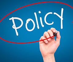Policy circled
