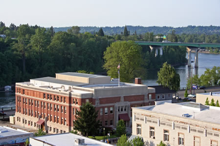 Picture of the Clackamas courthouse