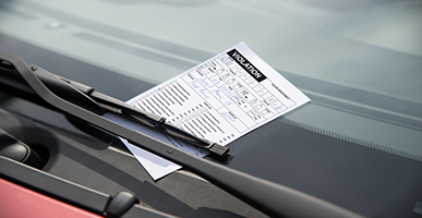 Ticket on a car window