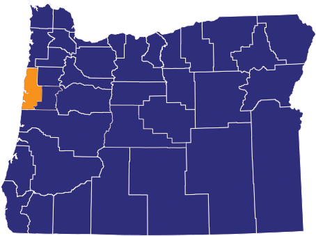 Map highlighting Lincoln County