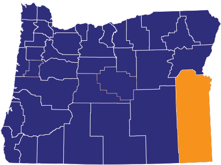 Map highlighting Malheur County