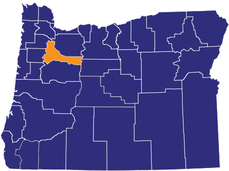 Map highlighting Marion County