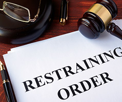 Restraining Order and gavel