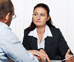 female attorney counseling a man