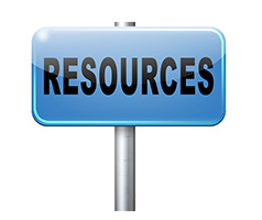 Resources sign