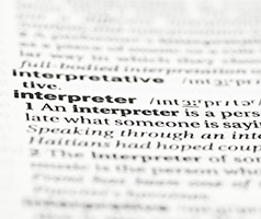 dictionary definition of interpreter